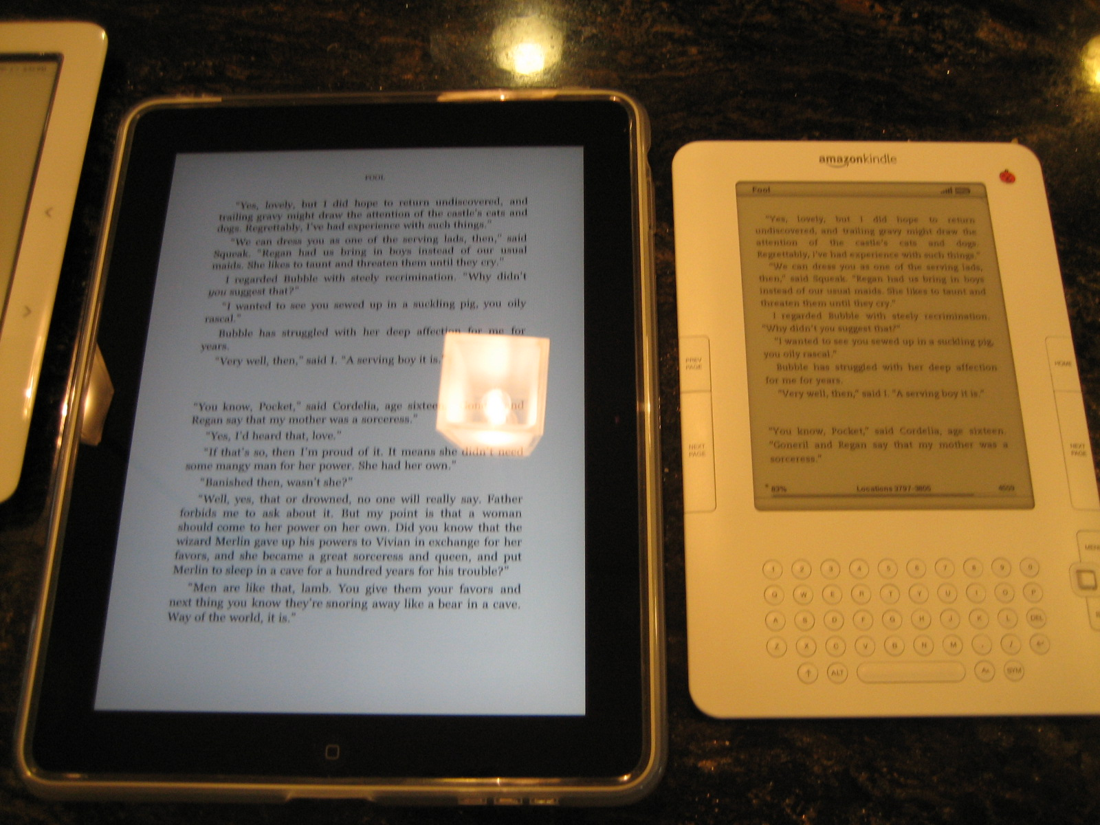 Apple Ipad Vs Kindle: IPad 3G Vs. The Kindle Vs. The Nook